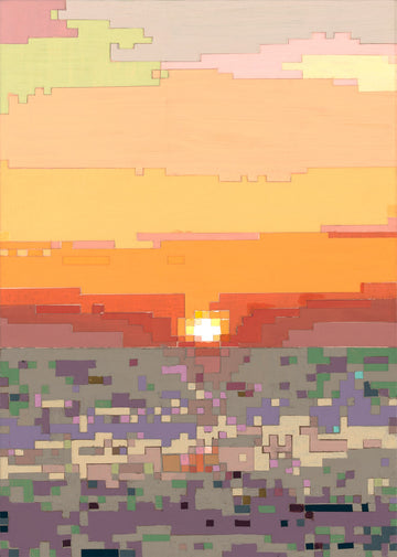 Tom Colcord's pixelated impressionist painting of a