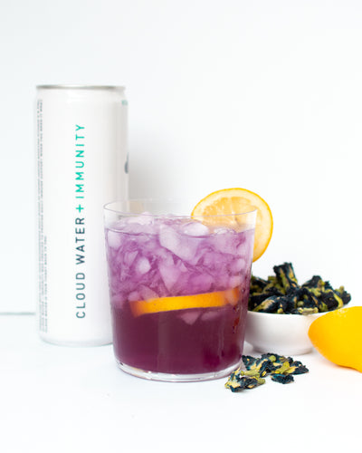 Sparkling Butterfly Pea Tea Lemonade