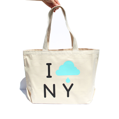 I CLOUD NY Oversized Canvas Tote