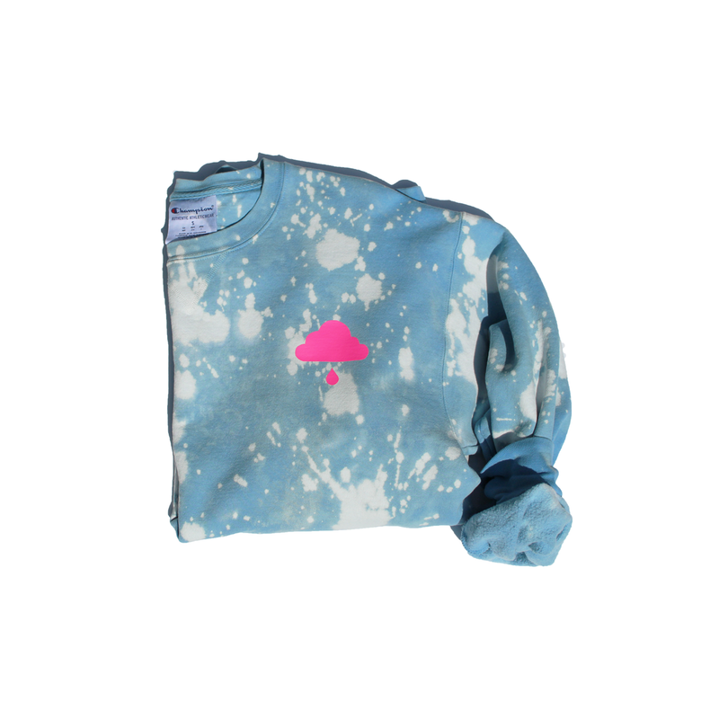Limited Edition Splatter-Dyed Crew Neck