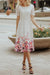 White Lace Dress with Painted Flowers