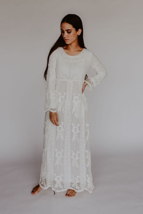 White Edith Dress