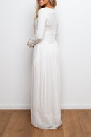 Lightweight Woven Maxi Dress with Narrow Lace Insets