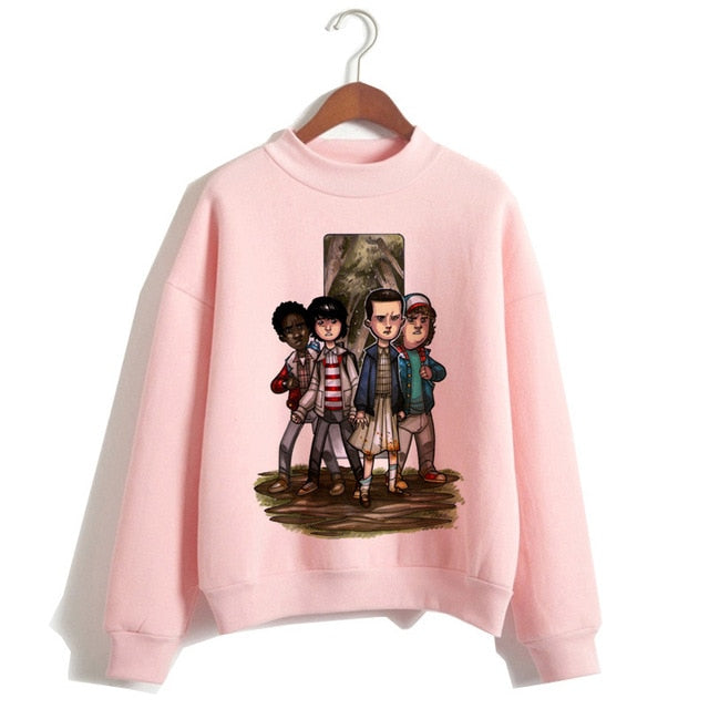 Funny Cartoon Eleven Friends hip hop Female Sweatshirts