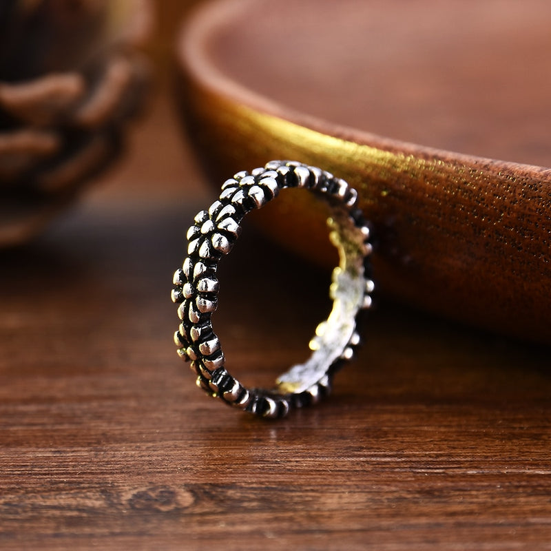 Hot Fashion Vintage Daisy Flower Tail Ring For Women