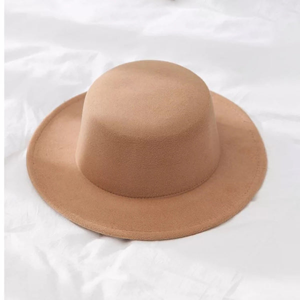 New Classic Solid Color Felt Fedoras Hat for Men Women
