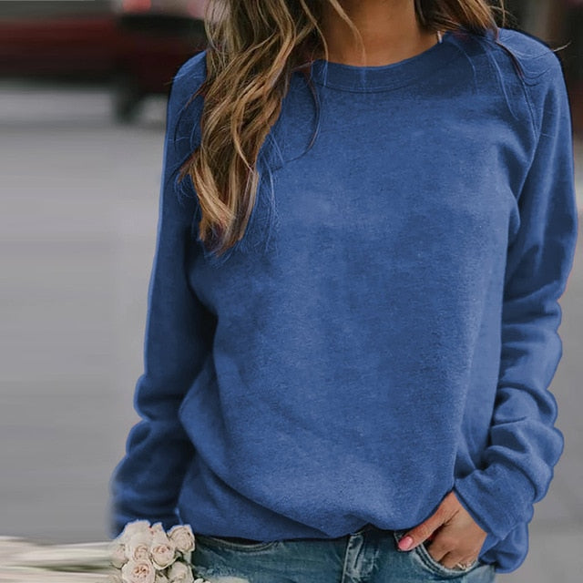 Fashion Round Neck Long Sleeve Sweatshirt