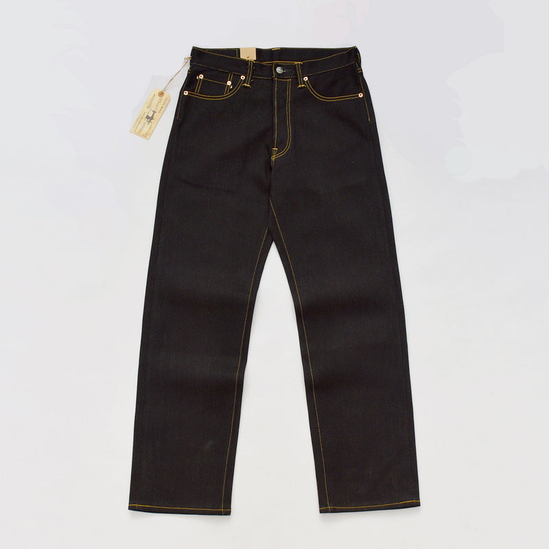 Black Heavyweight Selvage Denim  Jeans For Men