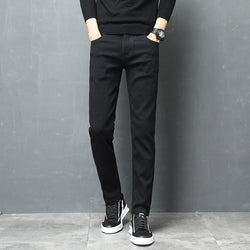 Men Slim Fit Pants Classic Denim Jeans