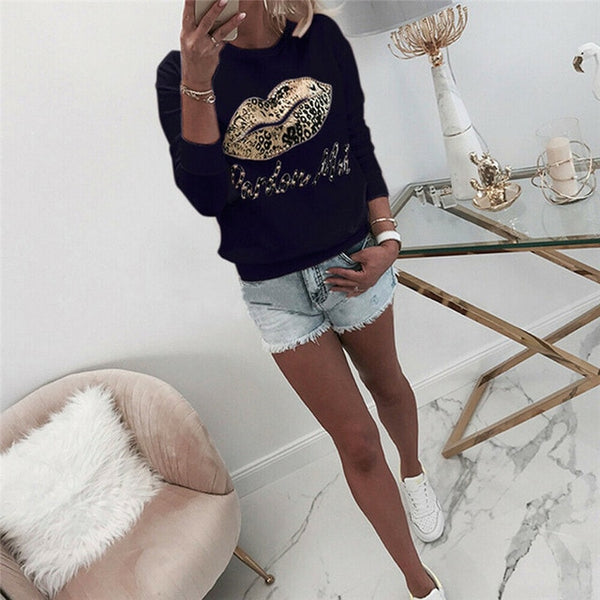 Cute Print Hoodies Women Sweatshirt