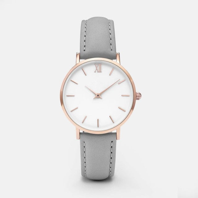 Woman Ladies Casual Leather Quartz Watch