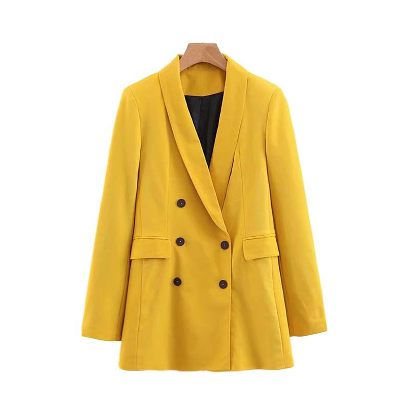 Fannic  women chic yellow blazer
