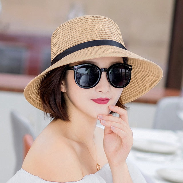 Summer Wide Brim Straw Hats Big Sun Hats For Women