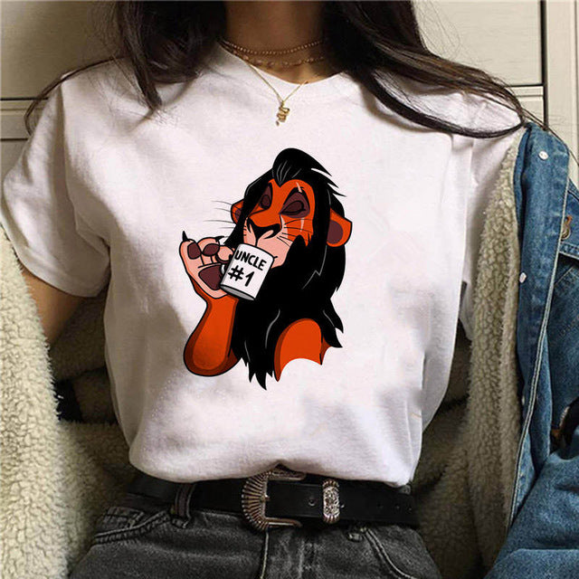 Women Fashion the lion king T shirt