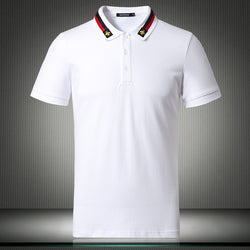 Men Short Sleeve Solid Breathable Shirt