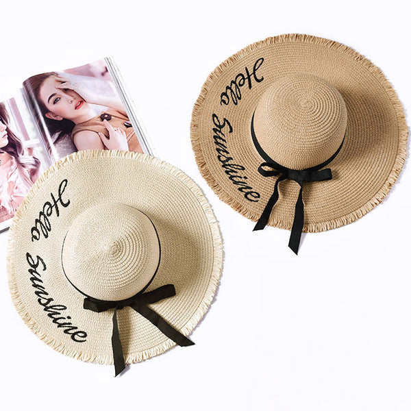 Embroidery Summer Straw Hat For  Women