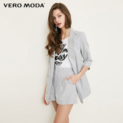 Vera Mona Women's Striped Blazer
