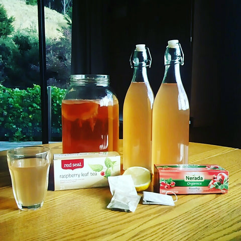 Ingredients for brewing herbal kombucha