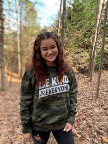 Adult Camo Crew Neck Sweatshirt