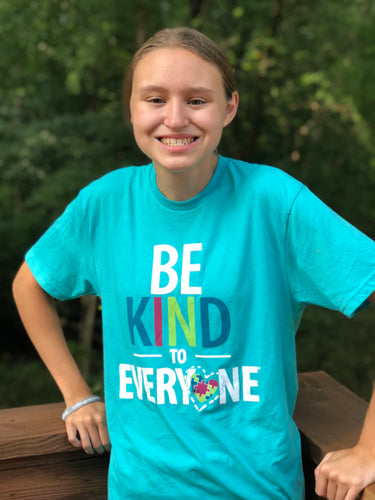 Be Kind to Everyone Turquoise Blue