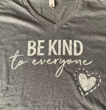 Be Kind to Everyone Grey V-Neck