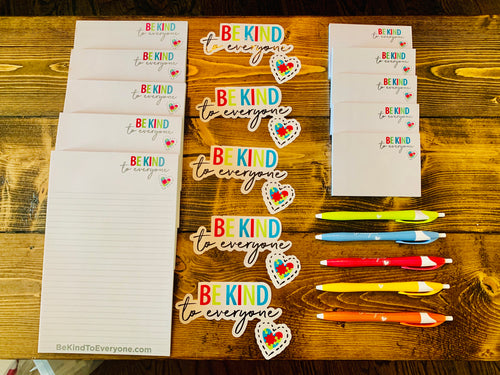 Be Kind to Everyone Notepad Pack