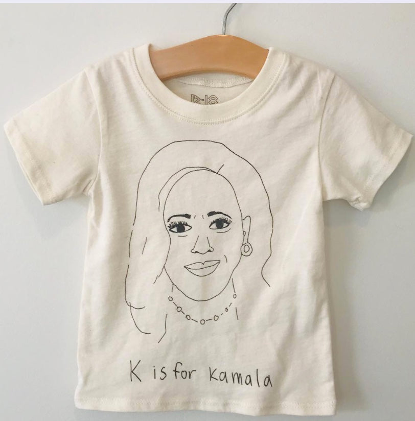 K is for Kamala baby tee