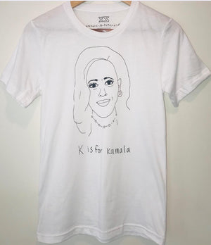 K is for Kamala unisex tee