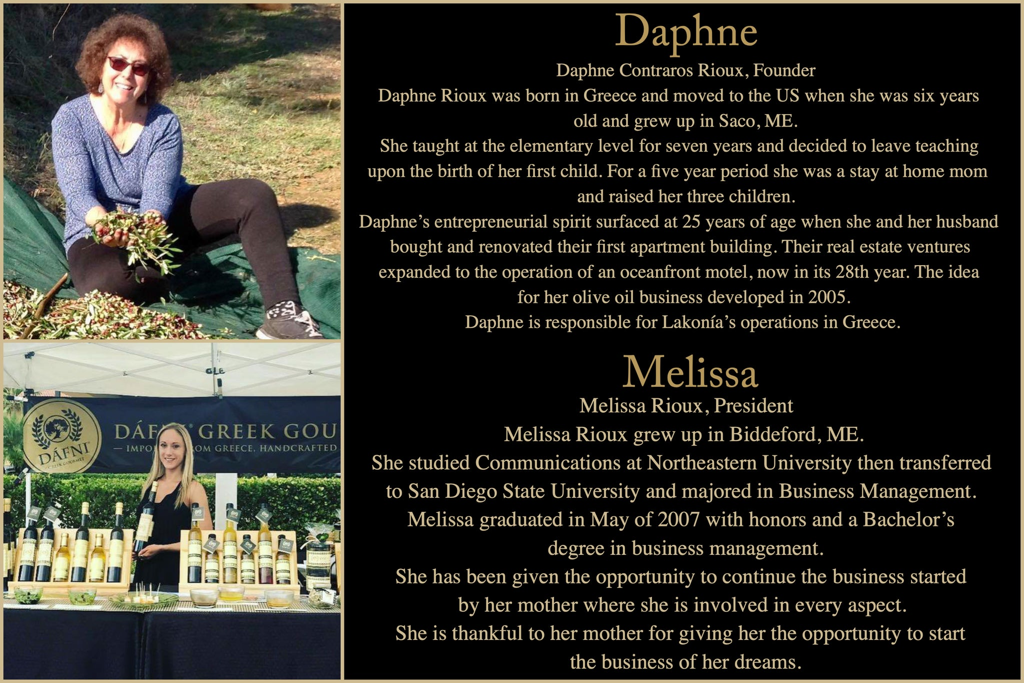 Melissa and Daphne Bio