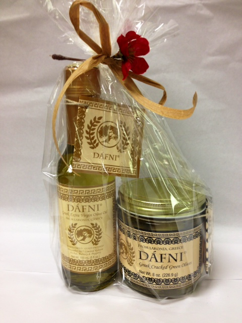 DÁFNI Greek Olive Oil & Olives Gift Sampler