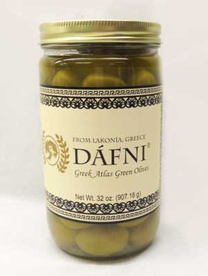 DÁFNI Greek Atlas Green Olives