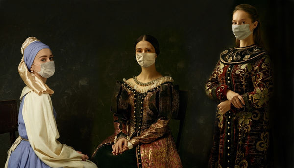 image showing 3 ladies wearing masks in the history of pandemics