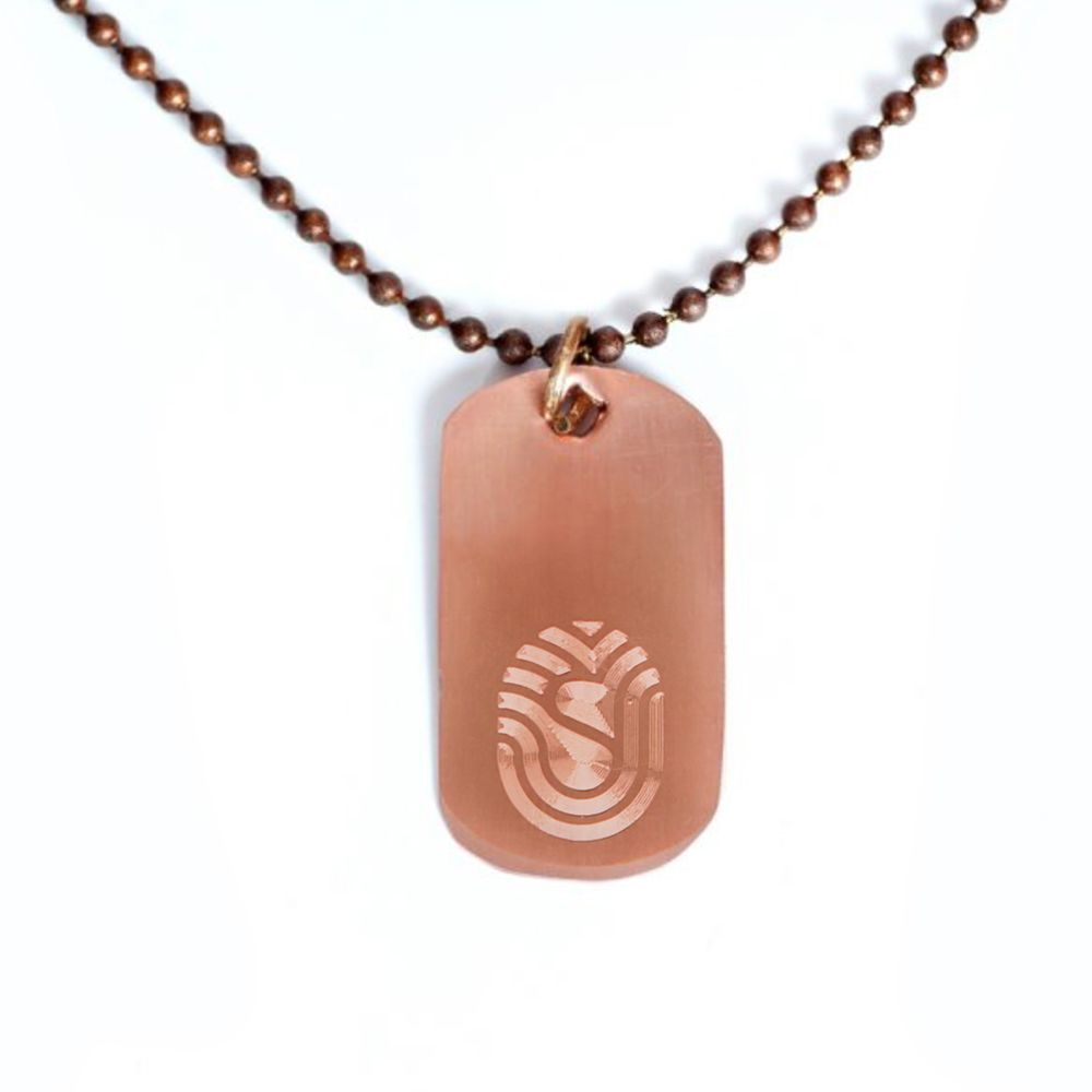 Dog Tag Necklace with 30'' Chain