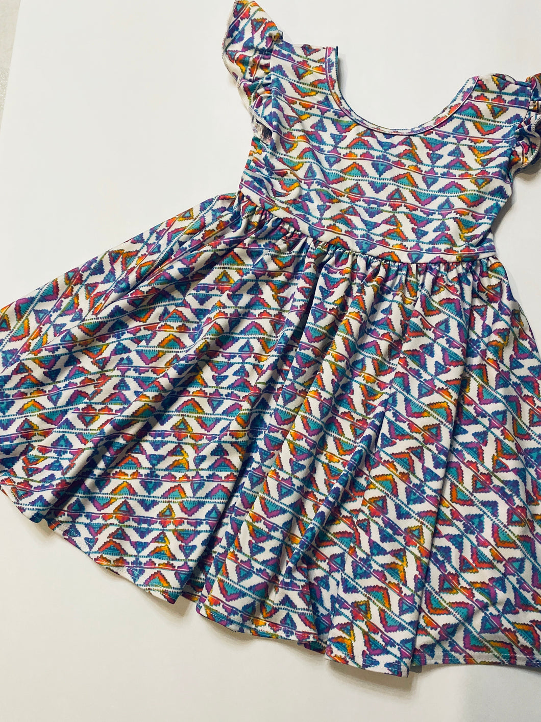 Southwest Print Dress Size 2T - Empire Style Dress