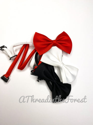 BowTies in red, white, black set of 3