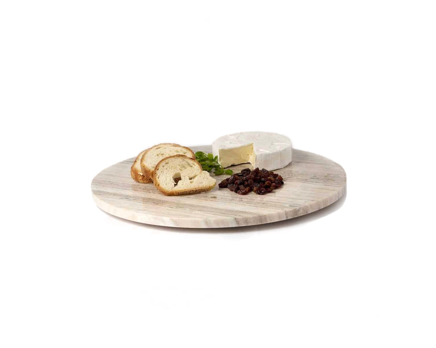 Small Beige Marble Lazy Susan