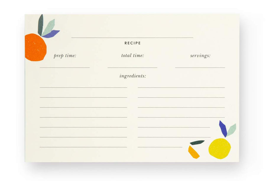 Recipe Card Refills Citrus Twist