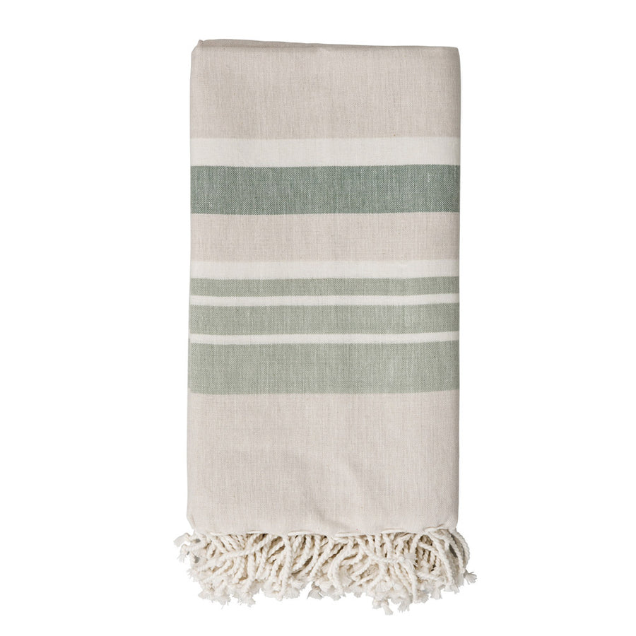 Mint Stripe Woven Throw