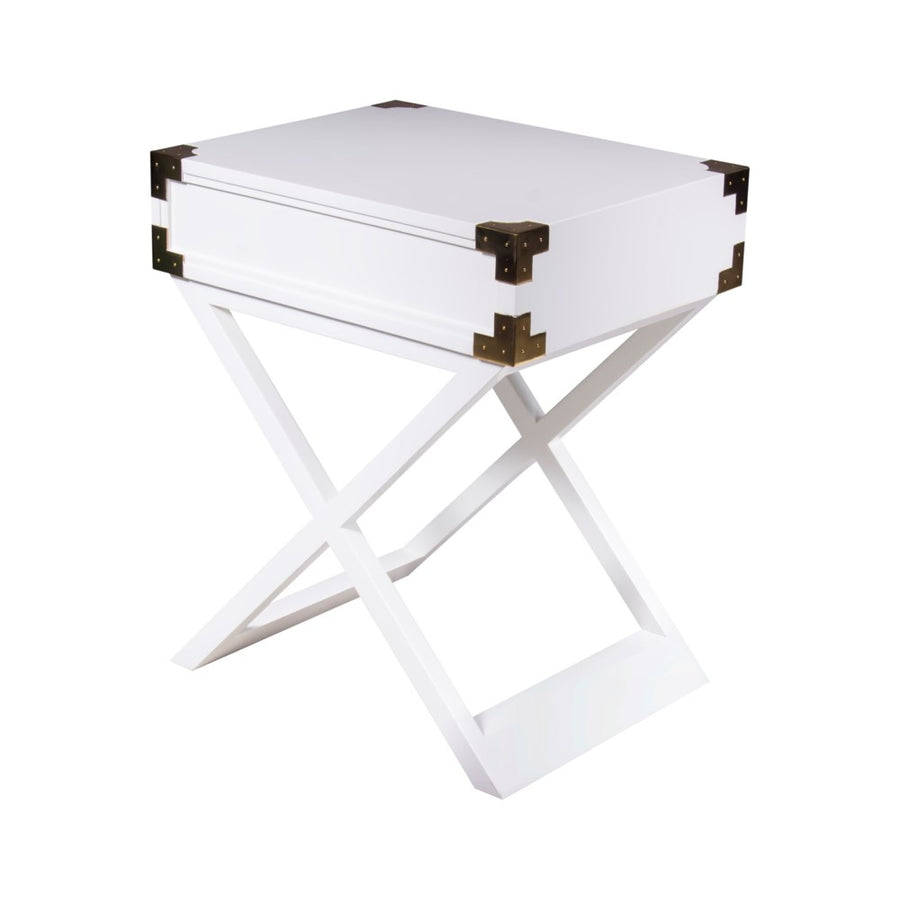Chiba Side Table White Lacquer