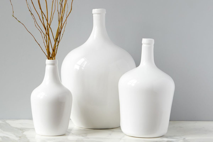 White Demijohn Jars