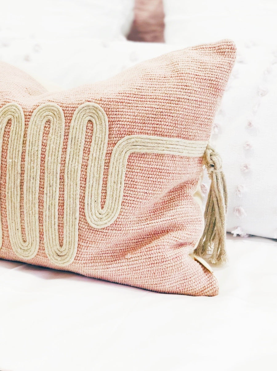 Voyager Natural Wave Pillow with Tassels