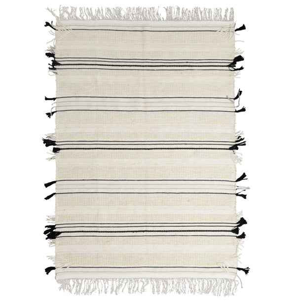 Lark Rug Cream with Silver
