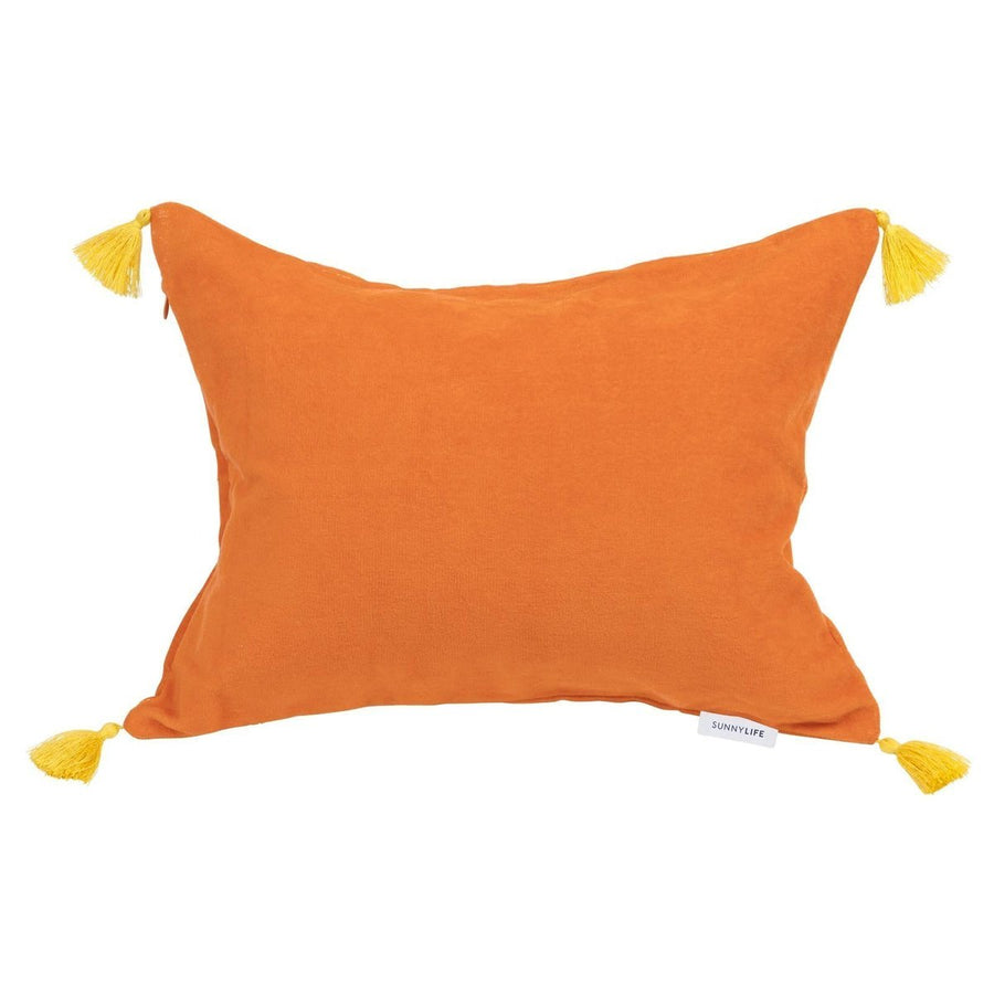 Malibu Orange Beach Pillow