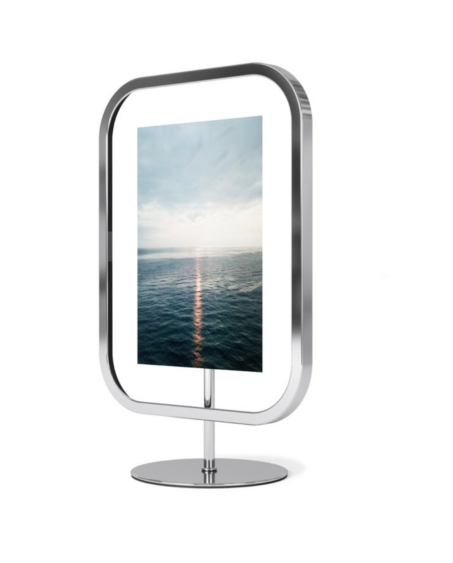 Infinity Square Chrome Photo Frame
