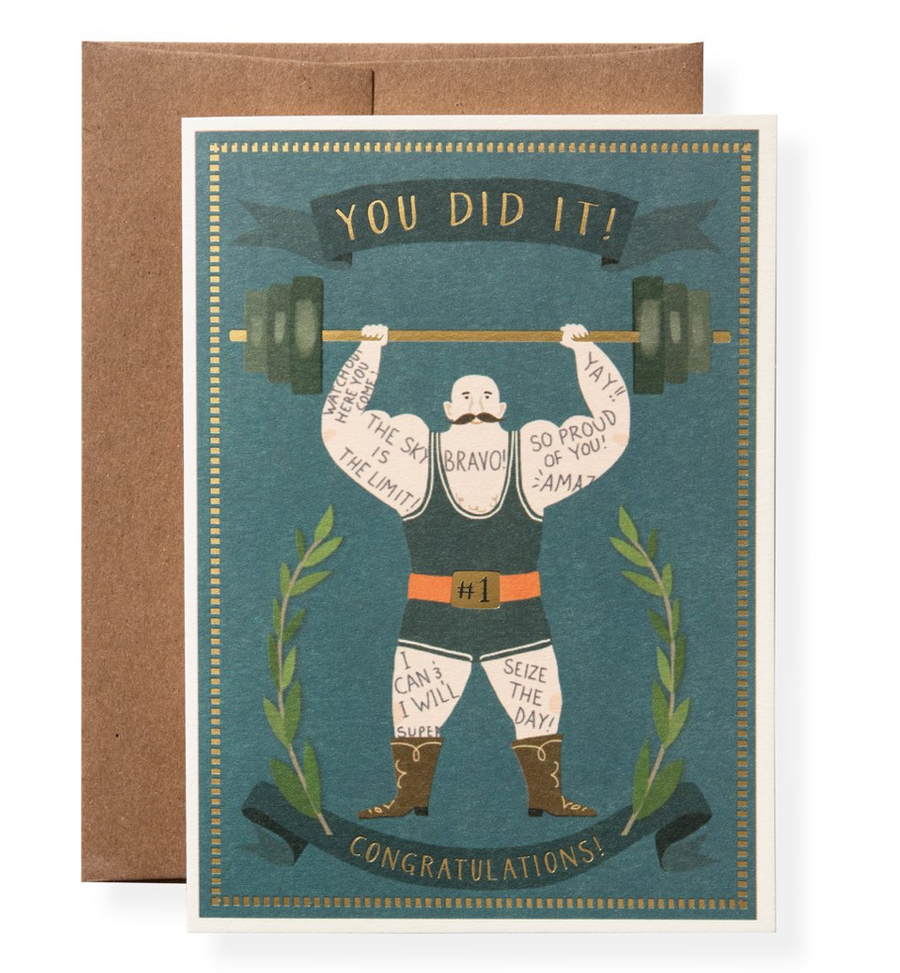 Muscle Man Greeting Card