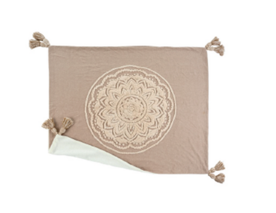 Sand Chambray Mandala Throw