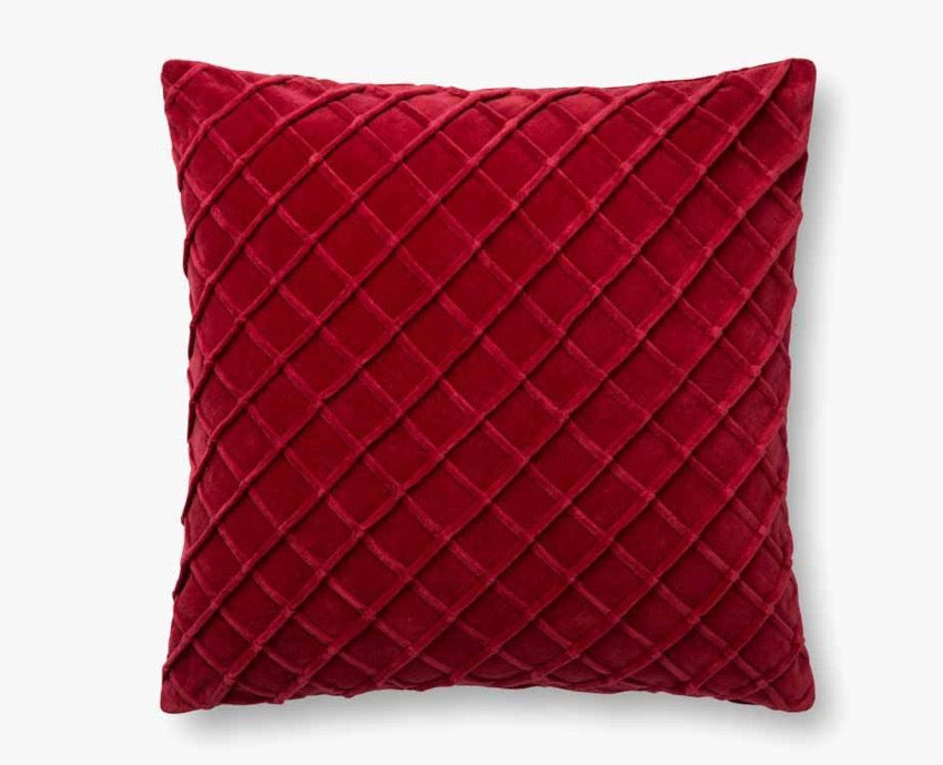 Red Velvet Diamond Pillow