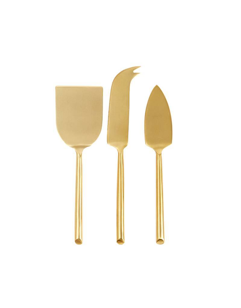 Matte Gold Cheese Set 3