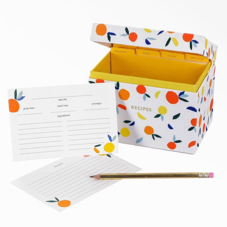 Citrus Twist Recipe Box