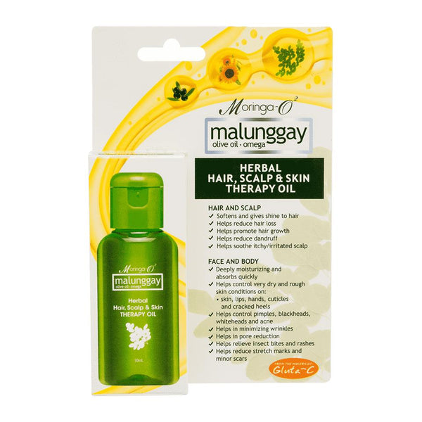 Moringa-O2 Malunggay Herbal Hair Scalp and Skin Therapy Oil 30ml Olive Oil Omega Moringa
